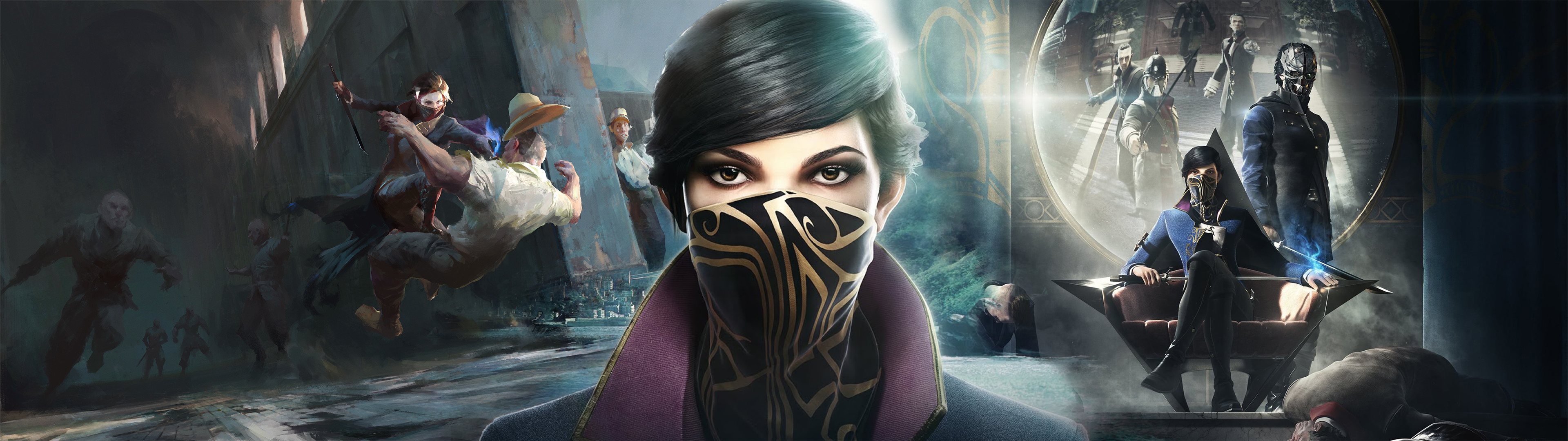 Dishonored 2 Dual Screen Wallpaper By Lariatura