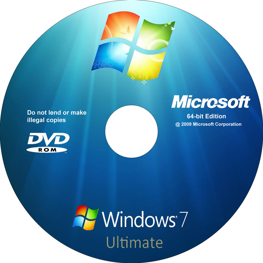 windows 7 ultimate 64 bits cd cover by sebavalenz on. Black Bedroom Furniture Sets. Home Design Ideas