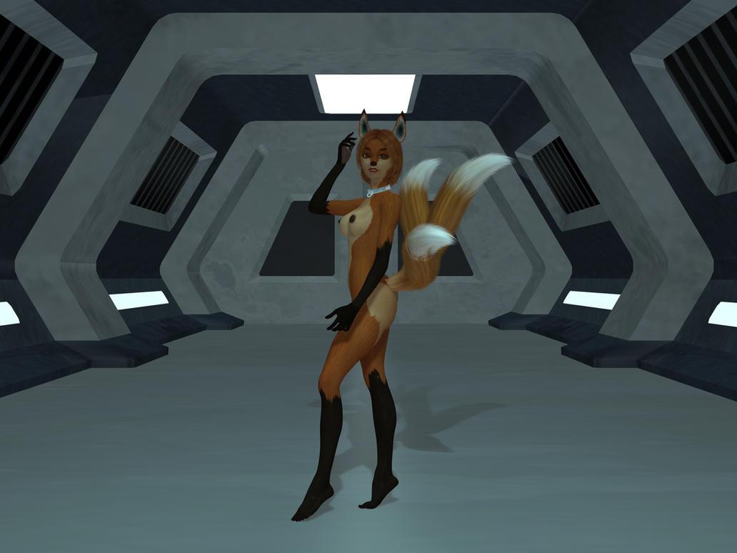 Star Pirates: Izumi Nude by WickedPrince