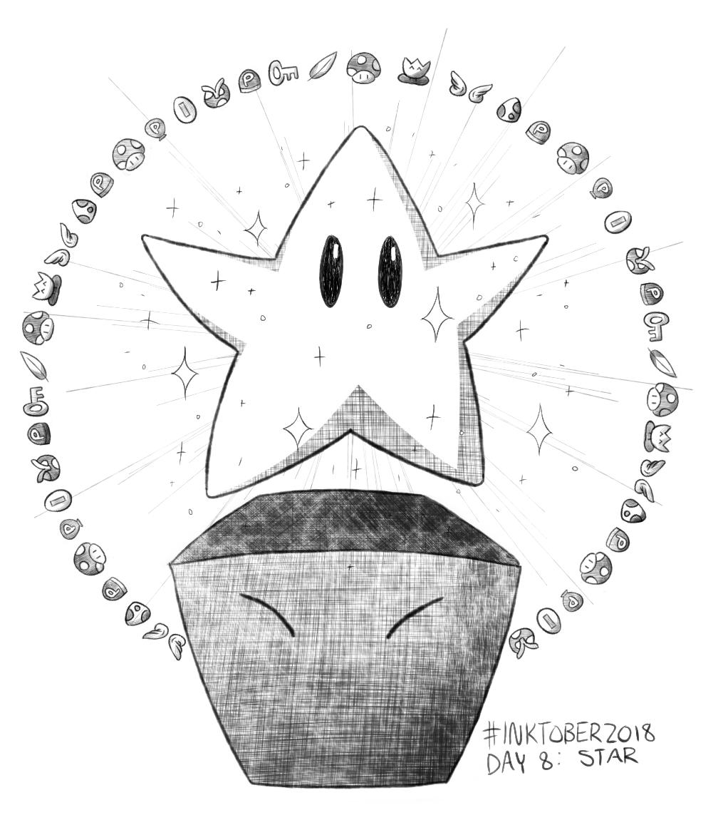 Inktober 2018 Day 8: Star
