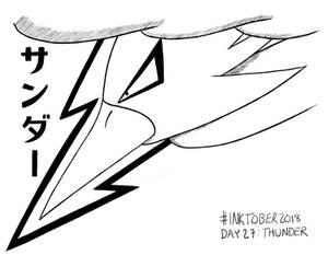 Inktober 2018 Day 27: Thunder