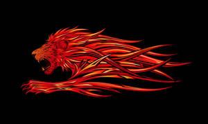 Fiery Lion by kuzzie-013