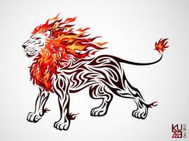 Flame Lion by kuzzie-013