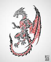 Bahamut Tattoo by kuzzie-013