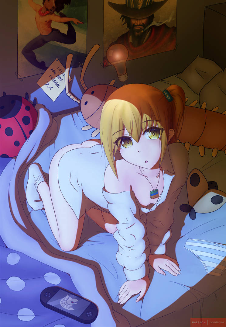 Minds-chan In Bed