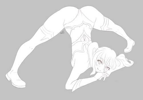 Pira doing the Jacko pose