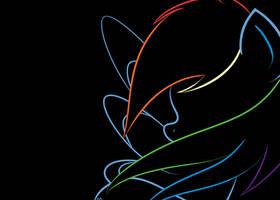 Rainbow Dash Minimalist by alexsalinasiii