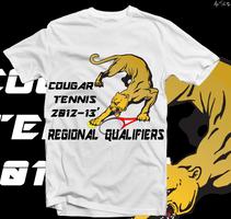 Cougar Tennis Tshirt Design by alexsalinasiii
