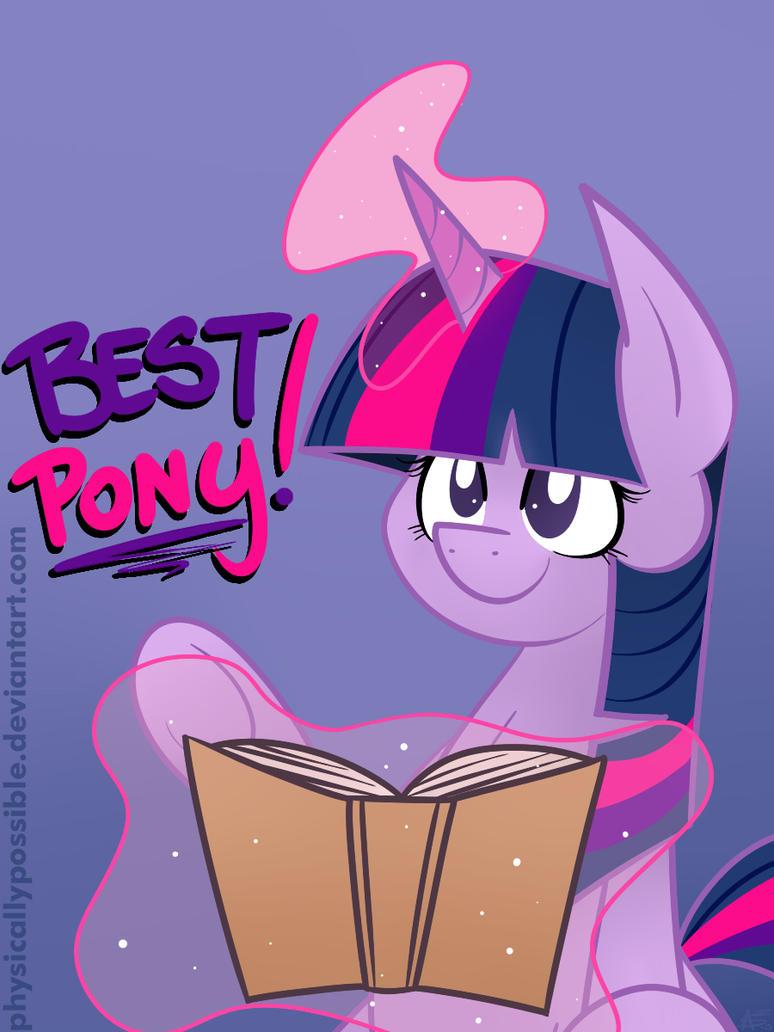 Updated Best Pony: Twilight Sparkle Badge by alexsalinasiii