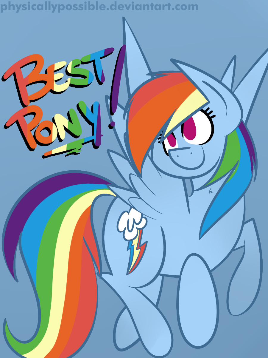 Best Pony Badges: Rainbow Dash by alexsalinasiii