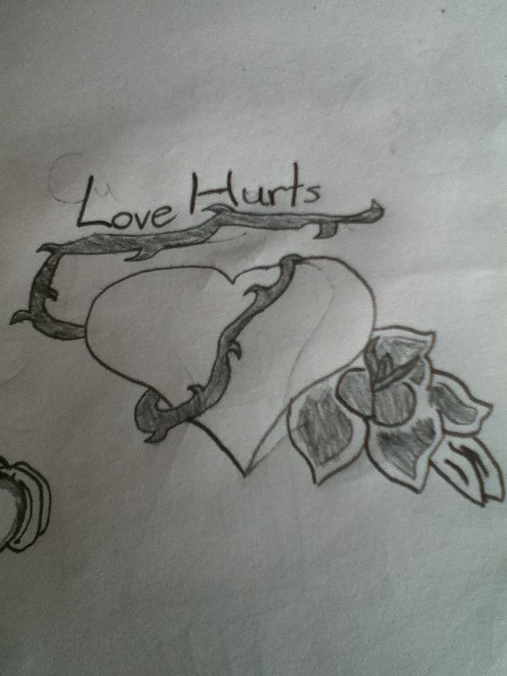 my tattoo ideas love hurts by doomgrace on deviantart. Black Bedroom Furniture Sets. Home Design Ideas