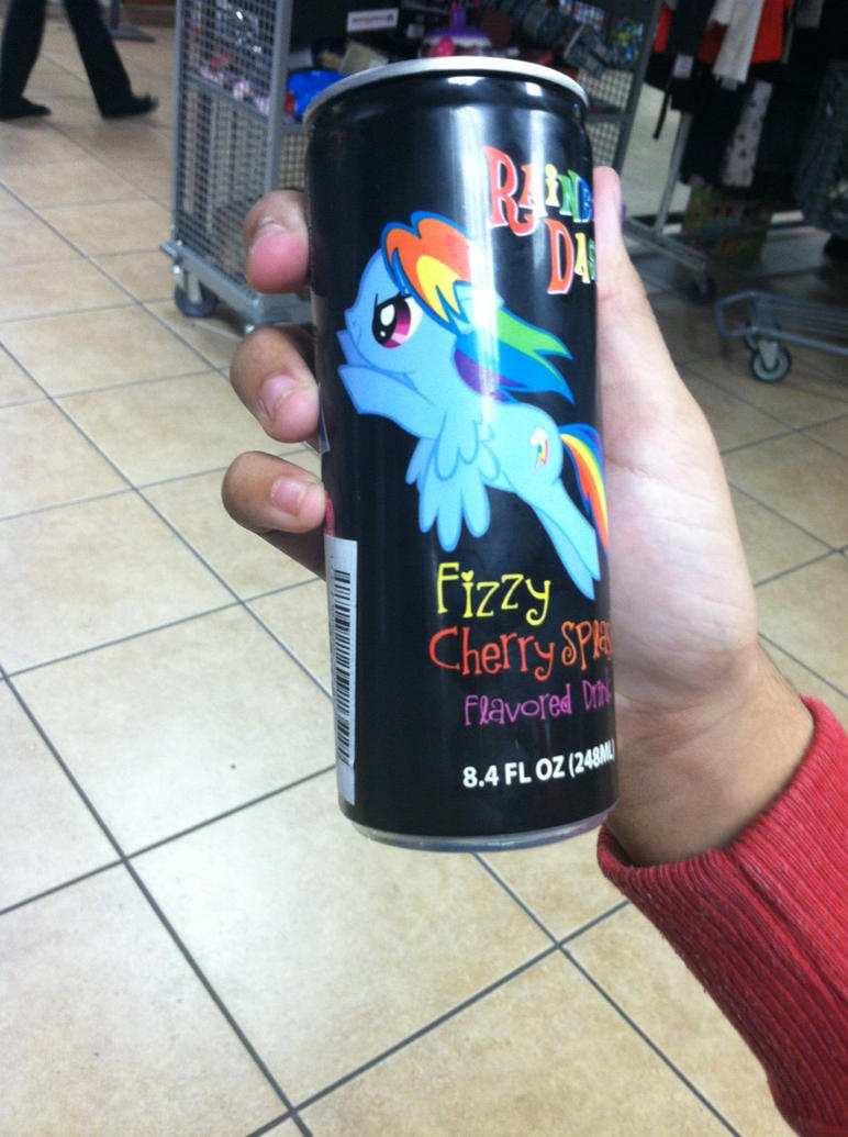 Rainbowdash fizzy flavored drink by Kisquo