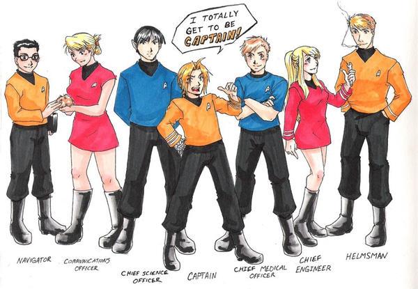 Deviantart Starfleet Captains Tylan Schan: FMA- Star Trek Fusion By Hikaru9 On DeviantArt