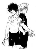 GW- Heero and Duo by Hikaru9