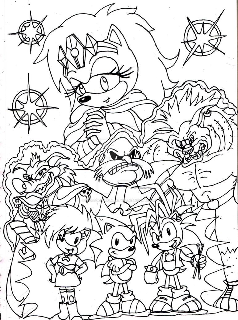 Coloring pages sonic - Sonic_underground_by_kartoon_kompany D3j3vgg Sonic Underground By Kartoon Kompany On Deviantart On Sonic Underground Coloring Pages