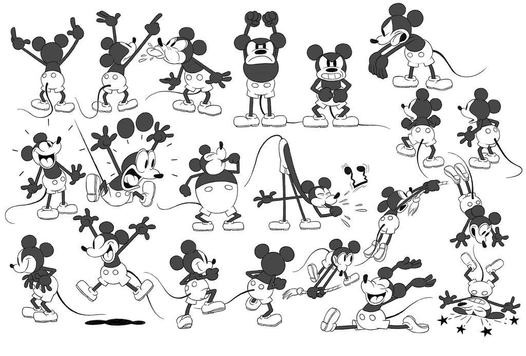 Mickey Mouse Model Sheet By Kartoon Kompany