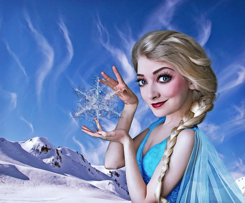Cartoon effect Elsa