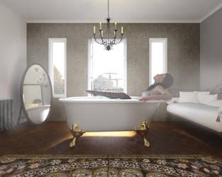 Bath time by James-Mckenzie3d