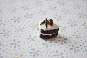 Chocolate Vanilla Icing Cake by eserenitia