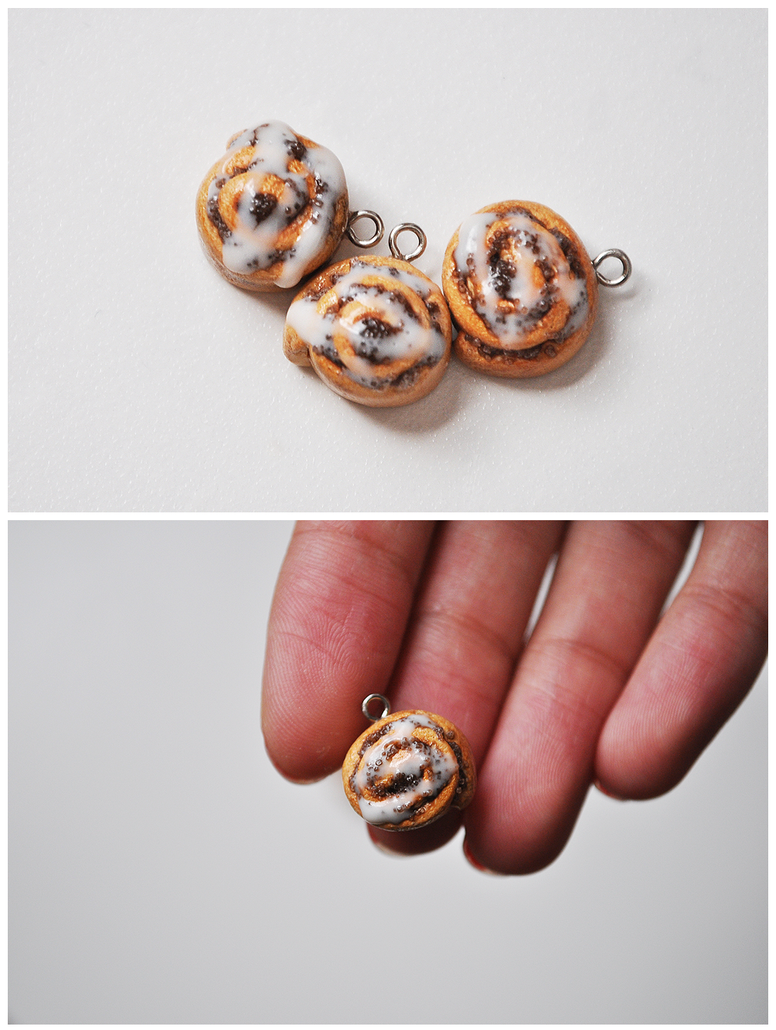 Cinnamon Roll Charms by eserenitia