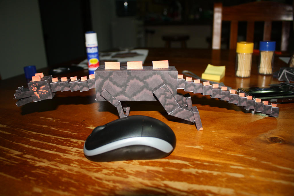 Minecraft Papercraft Nether Dragon WIP Final By Tigereyes6302