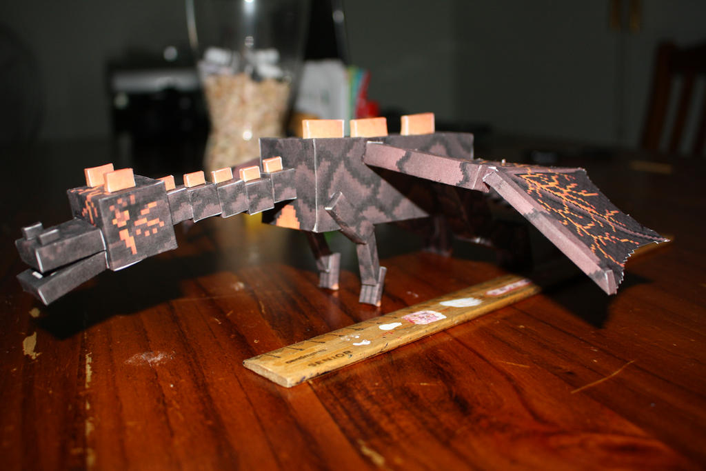 Minecraft Papercraft Nether Dragon WIP Completed By Tigereyes6302