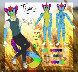 [Reference Sheet] Tiger by Tigereyes6302
