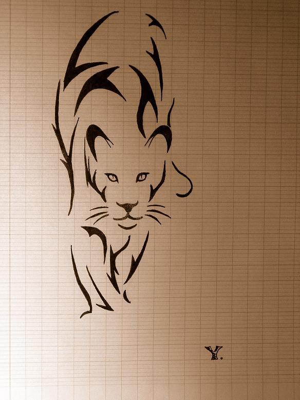 Cat tatoo by Nywukat