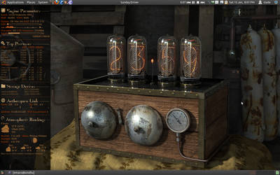 conky steampunk