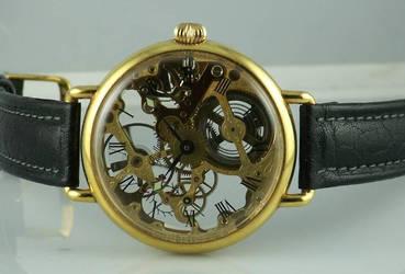 skeleton steampunk watch front