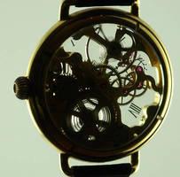 skeleton steampunk watch back