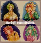 [OPEN] Portrait Commission Set Price by aplustre