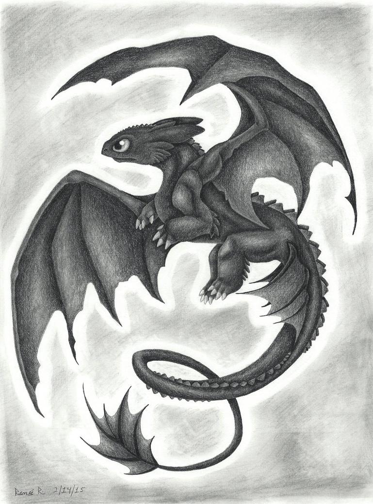 Toothless by TheGreenDragonGirl