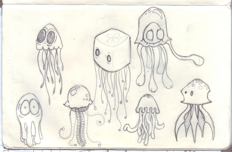 Jellyfish Concept Sketches by Dabstar