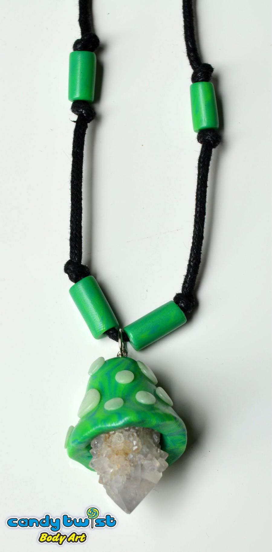 Mushroom Crystal Pendant 002 by Dabstar