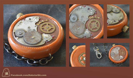 Polymer Clay Steampunk Pocket Watch