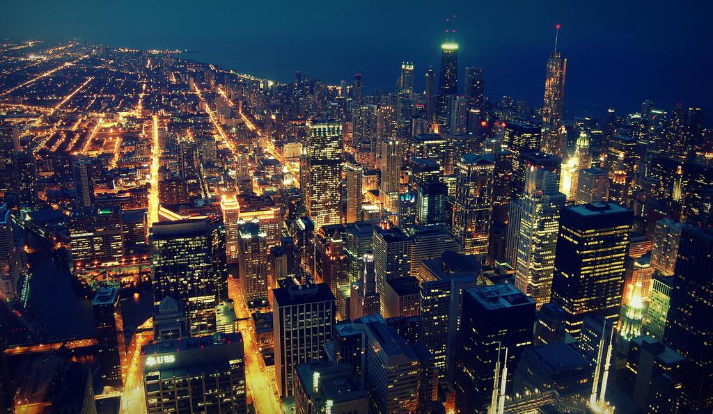 Chicago Nightview by lumikukka on DeviantArt