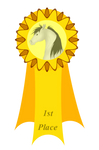1st Place Feather Fest Ribbon by Spotty001
