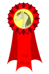 3rd Place Feather Fest Ribbon by Spotty001