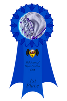 3rd Annual Feather Fest - 1st Place Ribbon by Spotty001
