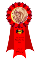 3rd Annual Feather Fest - 2nd Place Ribbon by Spotty001