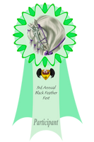 3rd Annual Feather Fest - Participant Ribbon by Spotty001