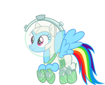 Astronaut Rainbowdash