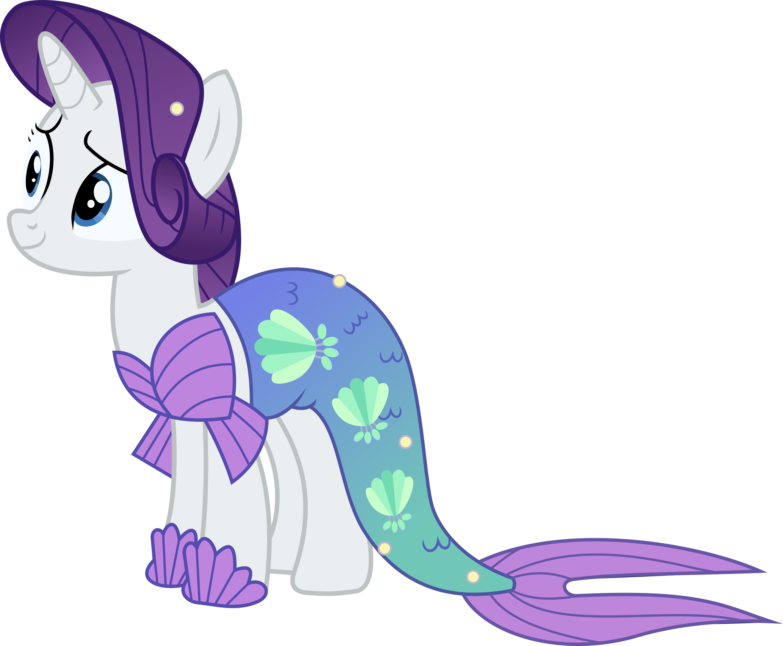 Rarity Mermaid by TimeLordOmega on DeviantArt