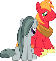 Marble Pie and Big Mac by TimeLordOmega