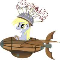 Derpy Hooves in a Sapceship by TimeLordOmega