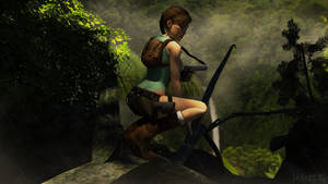 Lara Croft in the jungle by James--C