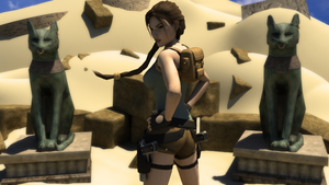 Lara in the desert