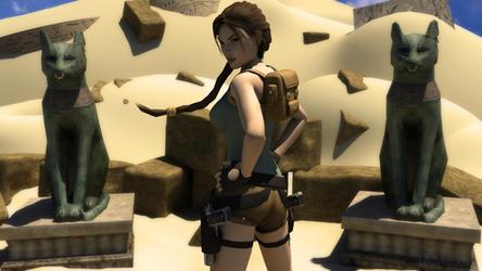 Lara in the desert by James--C