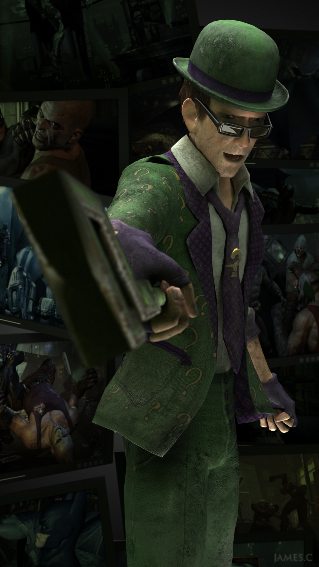 The Riddler - Arkham City by James--C